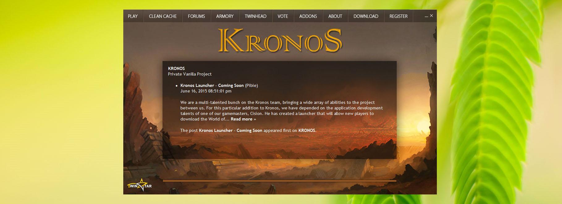 KRONOS • Kronos Status Update